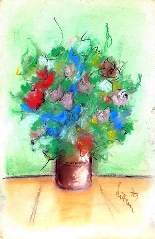 poesia dei fiori - mario fanconi - Pastelli