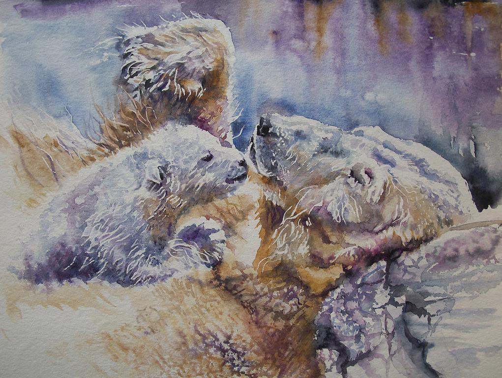 Orsi polari  - Ruzanna Scaglione Khalatyan - Acquerello