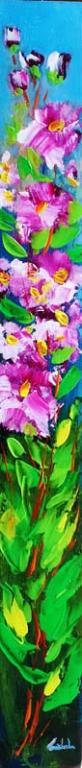 Rosa, rosa, fiori  - Carla Colombo - Acrilico - 75 €