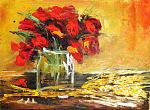 Insieme, papaveri e grano - Prezzo speciale  - Carla Colombo - Olio - 65€