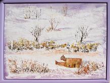 Poesia d'inverno - Carla Colombo - olio + vari  - 480€