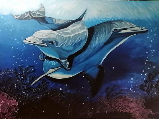 Delfini - Pietro Dell Aversana - Olio - 600 €