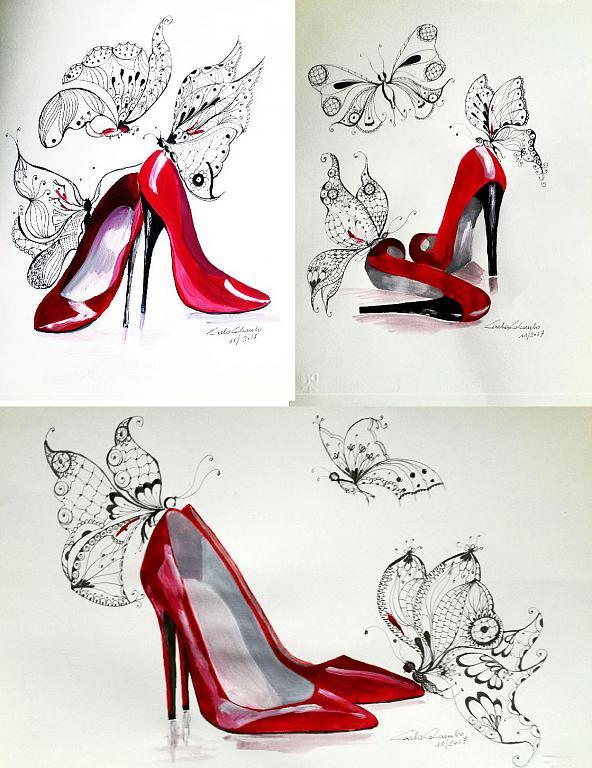 Serie Mariposas e tacco 12 - Carla Colombo - Acrilico - 35 €