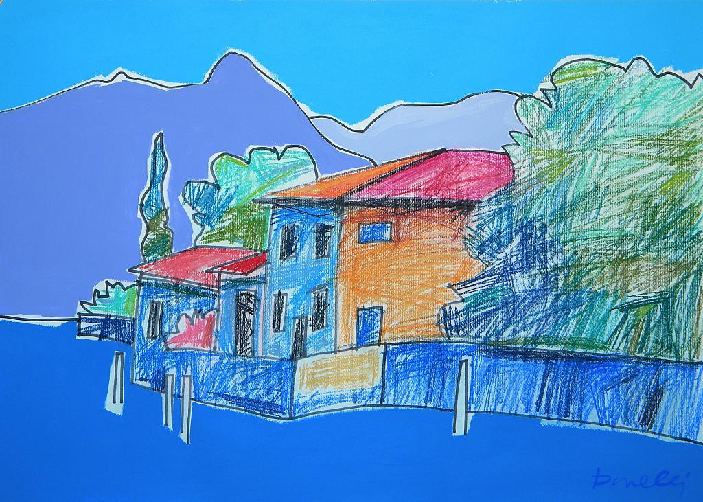 Paesaggio - Gabriele Donelli - Pastello e acrilico - 300 €