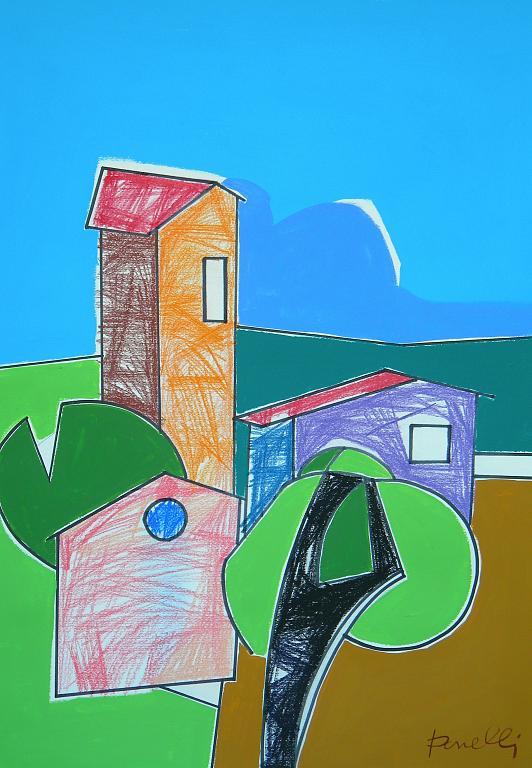 Paesaggio - Gabriele Donelli - Pastello e acrilico - 600 €
