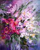 be there with flowers - Carla Colombo - Oil