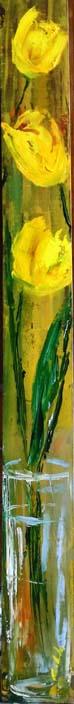 Giallo, giallo tulipano - Carla Colombo - Olio