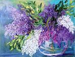 Al di là dei colori, lillà - Carla Colombo - Olio - 45€ - Venduto!