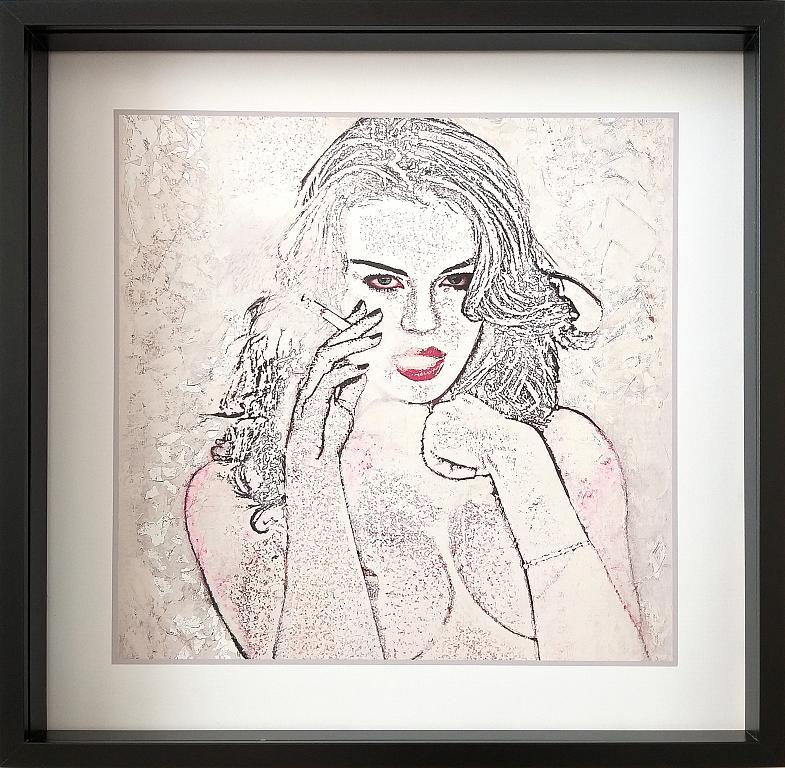 RITRATTO ALLA SIGARETTA N.5 stampa su tela retouchè - EZIO  RANALDI - tecnica mista  - 300 €