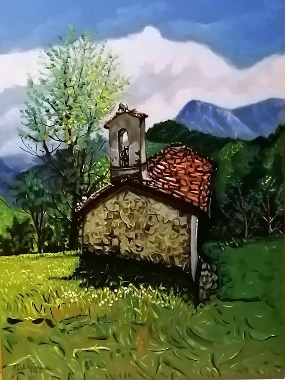 Paesaggio di montagna - Pietro Dell Aversana - Olio - 125 €