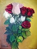 Rose miste - Pietro Dell Aversana - Olio - 150€
