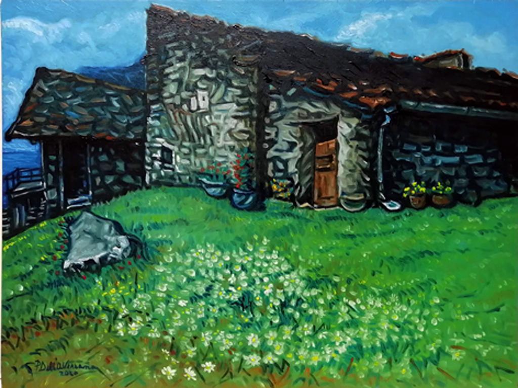 Paesaggio di montagna - Pietro Dell Aversana - Olio - 100 €