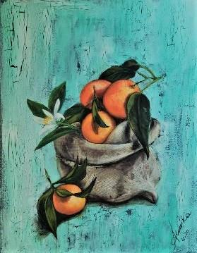 Le arance di Angela - anna casu - Acrilico