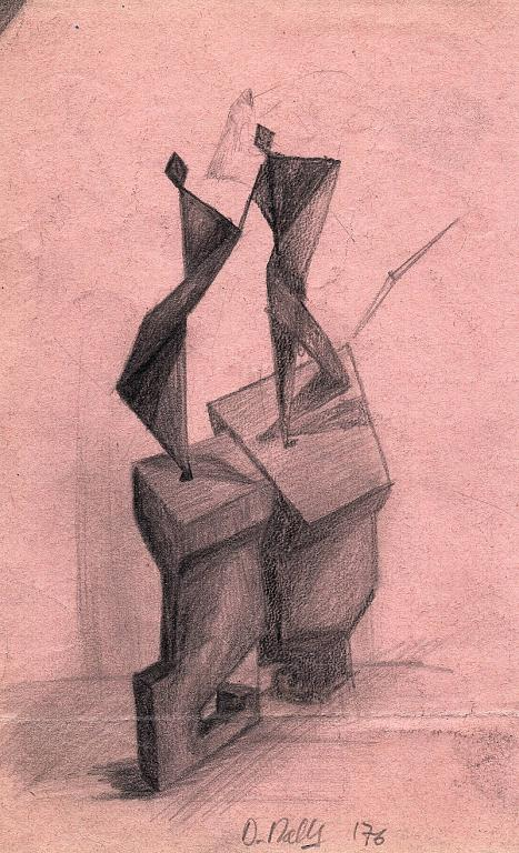 omaggio a Boccioni  -bozza- - daniele Rallo  - matita - 50 €