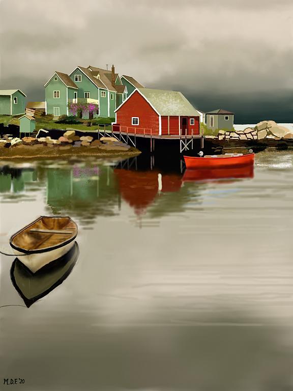 Case di legno sul lago - Michele De Flaviis - Digital Art - 60 €