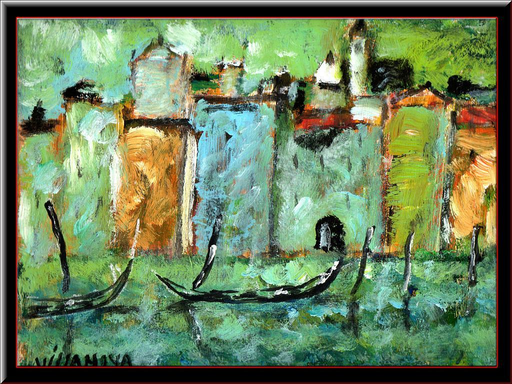 Venezia anni 40 - Aurelio Villanova - Acrilico - 600 €