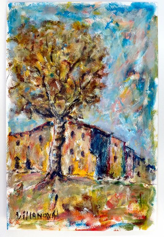 L'ultimo albero - Aurelio Villanova - Acrilico - 90 €