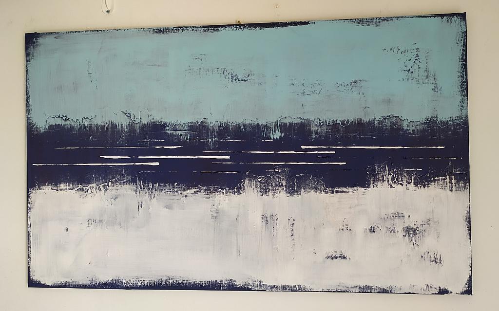 turchese blu bianco - aliz polgar - mista