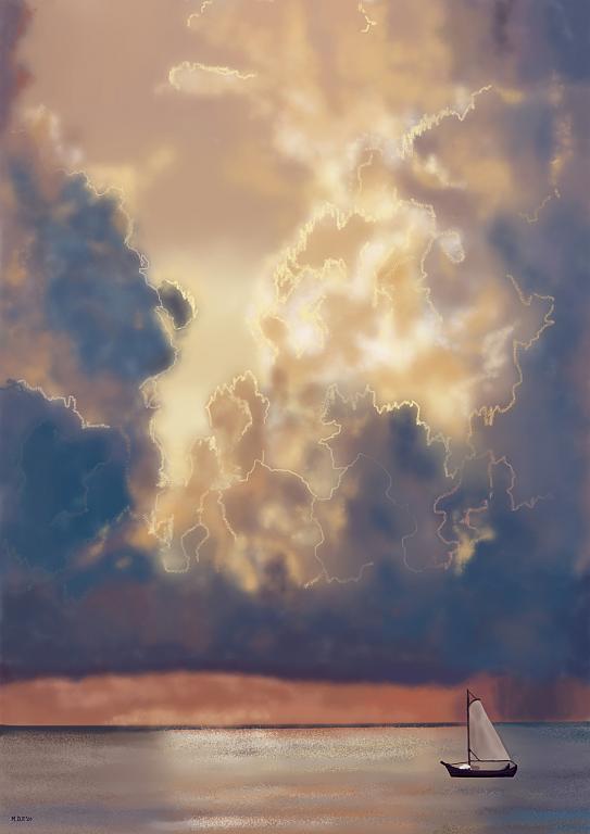Vela solitaria - Michele De Flaviis - Digital Art - 80 €