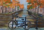 Passeggiando per Amsterdam - Santina Mordà - Olio - 200€