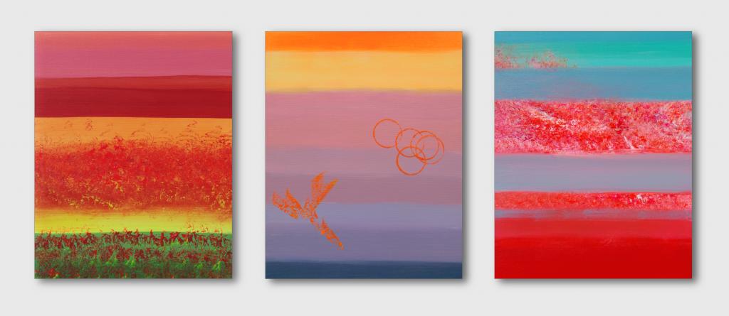 Calm, triptych - Davide De Palma - Acrilico - 300 €