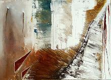 Lacerazione - GIOVANNI GRECO - stucco, smalto, olio su tela - 380€