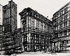 Franklin Street - Lucio Forte - Ink on canvas -  euro