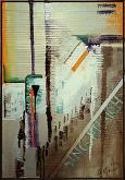 Fragili interazioni - GIOVANNI GRECO - stucco, smalto, olio su cartone imballo - 300€