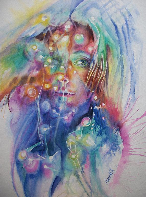 Autoritratto  - Ruzanna Scaglione Khalatyan - Acquerello