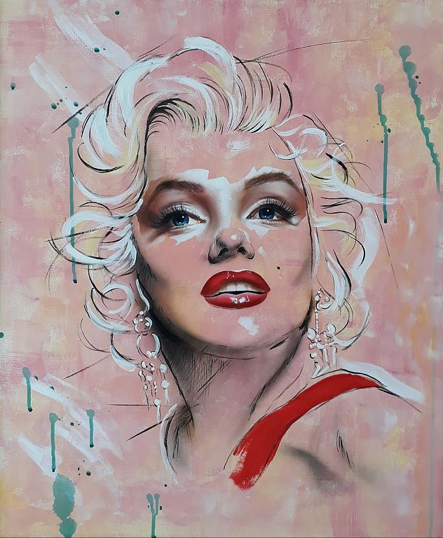 Marilyn  - Simona Zecca - Acrilico, aerografo  - 800 €