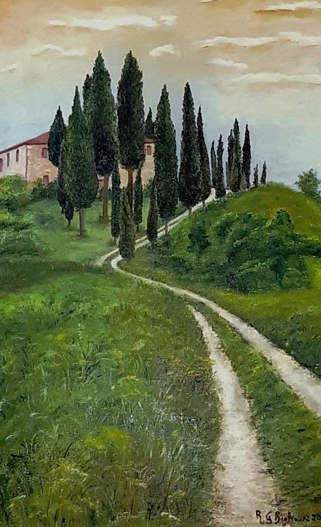 Casolare sul poggio Toscano - Roberta Grazia Begliomini - Olio - 1100,00 €