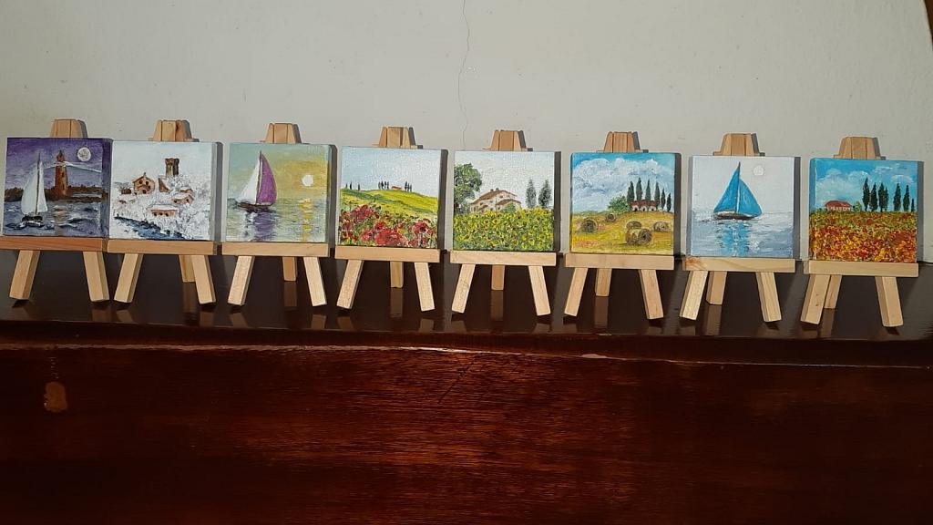 Mini Collezione 8 pezzi - Roberta Grazia Begliomini - Olio