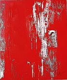 Think red - GIOVANNI GRECO - smalto, stucco, ritagli su tela - 380€
