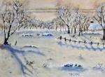 Paesaggio invernale - Caterina Martinetto - Olio - 120,00 €