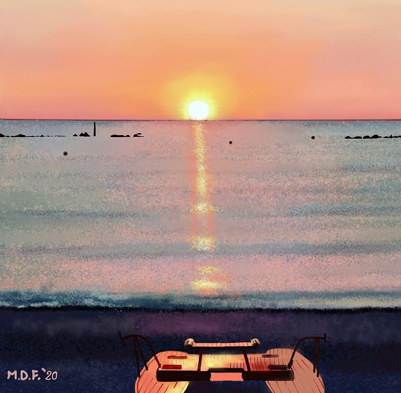 Pattino al tramonto - Michele De Flaviis - Digital Art