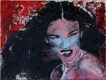 ritratto alla sigaretta - EZIO  RANALDI - smalto e gesso su multistrato legno - 800€