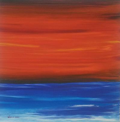 Tramonto minimalista - Girolamo Peralta - Acrilico e Tempera - 200 €