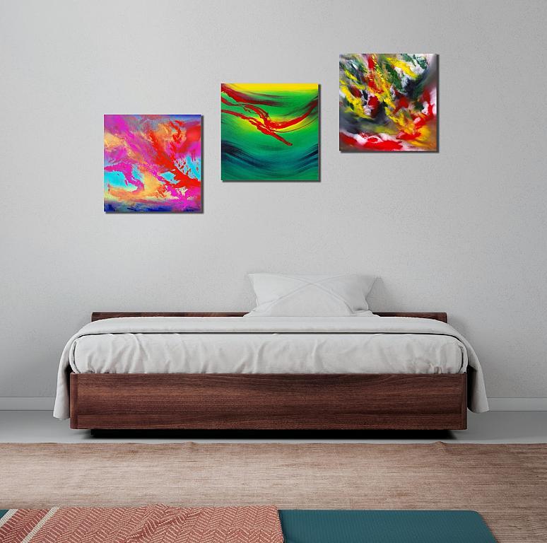 Gestural, Triptych - Davide De Palma - Olio - 450 €