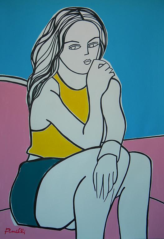 Ritratto di ragazza - Gabriele Donelli - Acrilico - 700 €