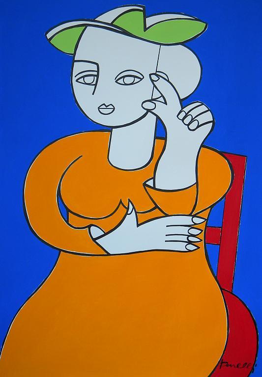 Ritratto di donna - Gabriele Donelli - Acrilico - 1600 €