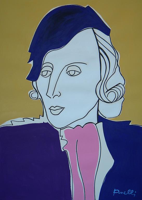 Ritratto di Tamara de Lempicka - Gabriele Donelli - Acrilico - 1700 €