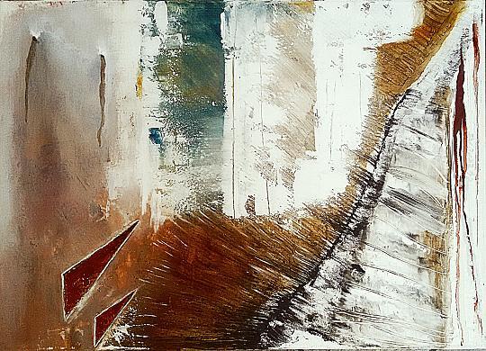 Lacerazione - GIOVANNI GRECO - stucco, smalto, olio su tela - 390 €