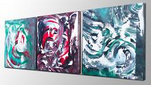 The dream runs away, Triptych - Davide De Palma - Action painting - 1200€