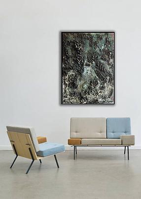 Spazio lunare - Massimo Di Stefano - mista su tavola - 700 €