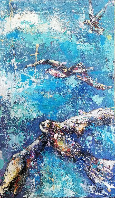 In Volo - tiziana marra - Action painting - 300,00 €