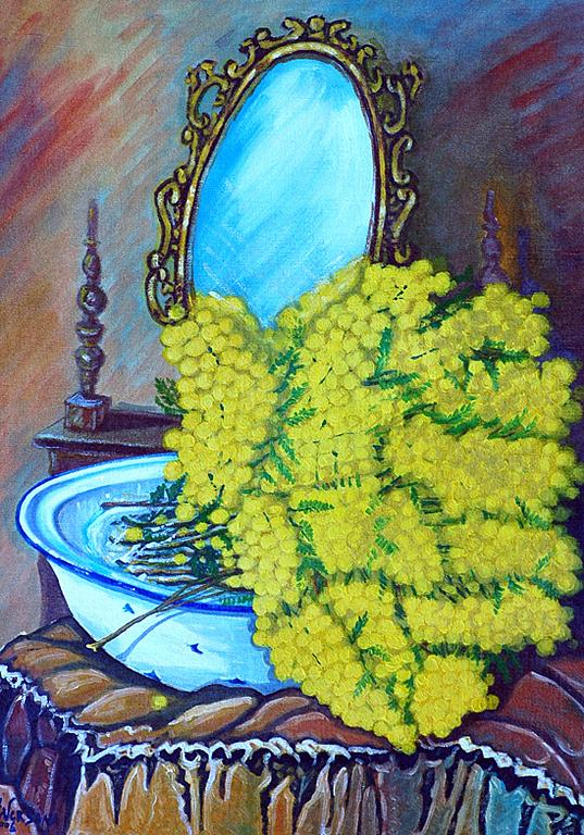 Omaggio alle Donne Mimose - Pietro Dell Aversana - stampa a colori - 25 €