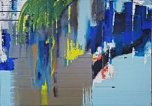 Deframmentazione temporale n.1 - GIOVANNI GRECO - stucco, smalto, acrilico su cartone imballo - 450€