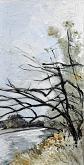 Adda River 3 - Lucio Forte - olio e china su tela
