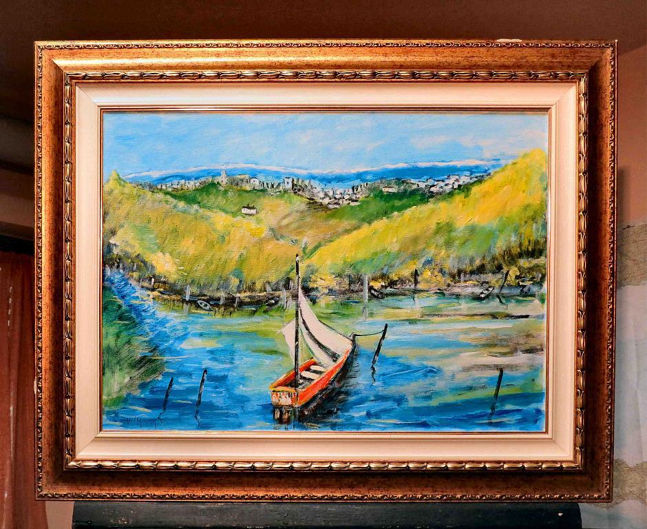 La barca - Aurelio Villanova - Acrilico - 490 €