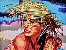 Sotto un cappello di paglia - GRECO Bruno - Acrilico